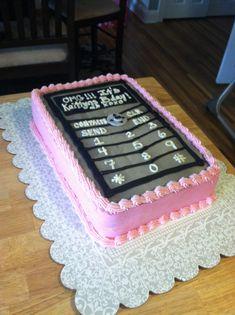 Cell phone cake . Kids birthday cakes