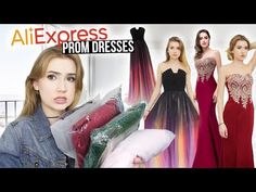 a43bee22d3 TRYING ON ALIEXPRESS PROM DRESSES!!  Huge Success    Giveaway