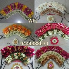 Trendy Indian Bridal Hair Style With Flowers Wedding Hairs Bridal Hairstyle Indian Wedding, South Indian Bride Hairstyle, Bridal Hair Buns, Bridal Hairdo, Indian Bridal Hairstyles, Bun Hairstyles, Flower Garland Wedding, Wedding Hair Flowers, Flowers In Hair
