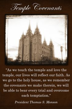 Little Owls of Mine: April Visiting Teaching. A quote by Thomas S. Monson about temple covenants --LO