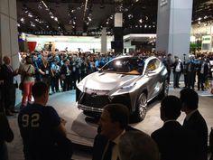 The Lexus LF-NX crossover live at the 2013 Frankfurt Motor Show. #Wow!