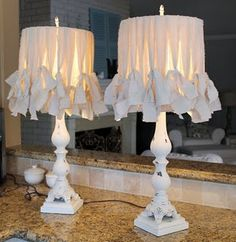 I am in love with these lamp shades