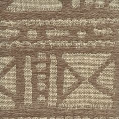 This is a tan and gray chenille jute African design upholstery drapery fabric by Swavelle Mill Creek Fabrics, suitable for any decor in the home or office. Perfect for pillows, cushions and furniture. 1 yd Piece  Tablev112TEF