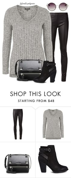 """""""Sem título #1658"""" by feferolli ❤ liked on Polyvore featuring The Row, Topshop, Givenchy, ALDO, women's clothing, women, female, woman, misses and juniors"""