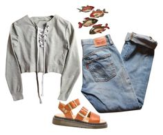 """Untitled #250"" by hunkulez ❤ liked on Polyvore featuring Levi's, Dr. Martens and Pier 1 Imports"
