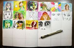 An image a day spread.... #artmaking #journal