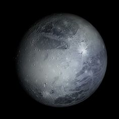 "This is a picture of Pluto (the dwarf planet), it is the second largest dwarf planet in our solar system. It was the ninth planet in our solar system until it was announced as a dwarf leaving us with eight planets. It is composed of primarily rock and ice and I chose this topic of Pluto because till this day people still argue whether or not Pluto is a planet. On August 24, 2006 they decided the definition of a ""planet"" and Pluto did not meet the expectation leaving it to be named 134340."