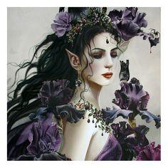 Nene Thomas art | Lirielle Fae Hand Framed Fantasy Art Print by Nene Thomas