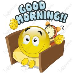 goodmorning smiley faces | TAGS: Good Morning , greetings , alarm clock