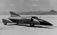 "Circa 1960's jet car.  ""Spirit of America""  Driven by American Craig Breedlove to break the Land World Speed Record"