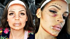 Plastic Surgery GLAM GONE WRONG |Drugstore Halloween Makeup Tutorial Col...