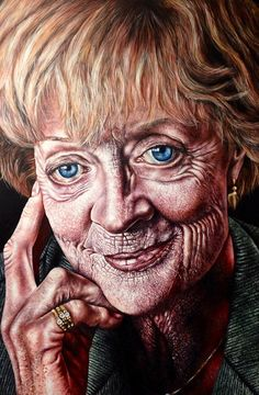 #fsfcfineart - brilliant painting of Dame Maggie Smith by A2 student Sophia Rivera-Montanes! Unit 3 Final Outcome 2015-16.