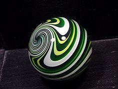 Fritz Lauenstein Contemporary Art Glass Marble 1.54 inch MINT reverse twist cane