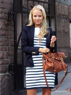 Love the stripes and jacket!!