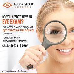 Eyes On Brickell is one of the best emergency eye care centers in Miami that accept all of the major insurances including EyeMed provider , Healthease, Staywell, Careplus and many more. Same Day Glasses, Eye Care Center, United Healthcare, Eye Exam, Eye Doctor, Optometry, How To Treat Acne