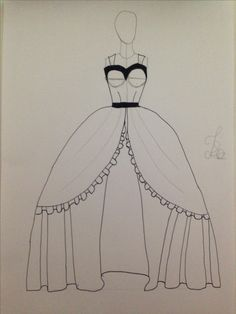 Vestido princesa desenho