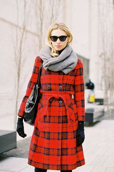 bold red plaid