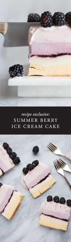 This ice cream cake is so easy and perfect for a hot summer day. Made with local hand-crafted ice creams, fresh berries and store bought pound cake, its so easy to put together but your friends will definitely be impressed!