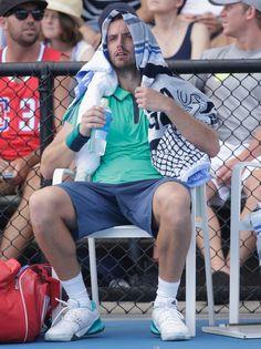 Ernests Gulbis Photos - 2016 Australian Open - Day 2 - Zimbio Gael Monfils, Photos 2016, Australian Open, Opening Day, Melbourne, Tennis, Sports, Men, Hs Sports