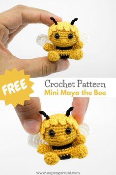 Crochet Bee, Crochet Patterns Amigurumi, Cute Crochet, Crochet Crafts, Crochet Dolls, Crochet Projects, Christmas Crochet Patterns, Crochet Animal Patterns, Small Crochet Gifts