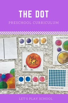 The Dot preschool activities Preschool Class, Preschool At Home, Preschool Curriculum, Preschool Activities, Homeschooling, Prek For All, Projects For Kids, Art Projects, Pre K Age