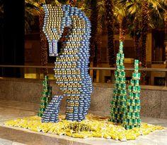 Can Art ~ seahorse & kelp display