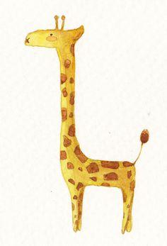 Giraffe illustration.