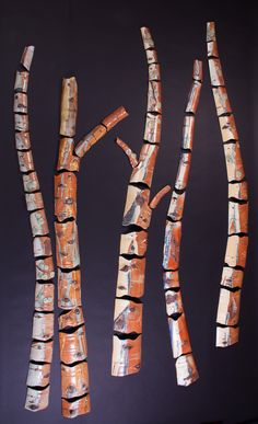 """Light, Shadows, Reflections, 6'H x 5'W x 3""""D ©Gail Frasier, is a grouping of aspen reflecting the lights and shadows of the day. Will be in Sculpture in the Park, Loveland, CO, Aug 11 & 12. Light And Shadow, Aspen, Shadows, 3 D, Reflection, Colorado, Culture, Lights, Park"""