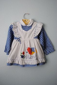 vintage toddler gingham elephant dress by 3RingCircus on Etsy, $14.50