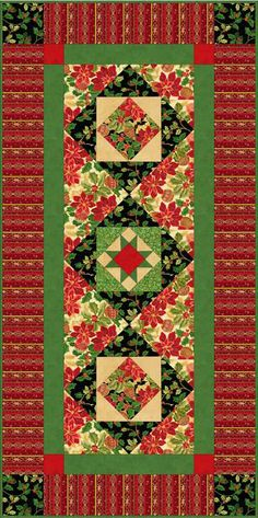 Holiday Classics Tablerunner By Quilting Treasures  http://www.quiltingtreasures.com/stuff/contentmgr/files/00831bb5eff6f040a8357b6e67d8dfef/download/holiday_classics__tablerunner_b2c.pdf