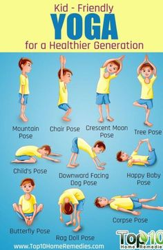 calm down yoga routine for kids printable  for kids