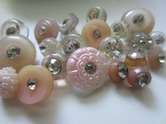 Vintage Buttons  lot of 22 assorted pastel pinks by pillowtalkswf, $12.95