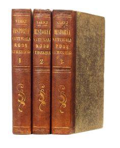 Virey Julian Józef. Historia naturalna rodu ludzkiego... T. 1-3 Warszawa 1843.