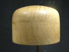 Vintage wooden hat block, millinery, forme à chapeau, hoedenmal
