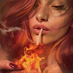 A variety of the newest examples by Aykut Aydogdu, likely one of my favorite illustrators. The Turkish artist and graphic designer Aykut Aydogdu, based in Istanbul, once again reveals several appealing and poetic portraits, directing Fantasy Kunst, Fantasy Art, Katarina League Of Legends, Redhead Art, Digital Art Girl, Wow Art, Surreal Art, Dark Fantasy, Cartoon Art