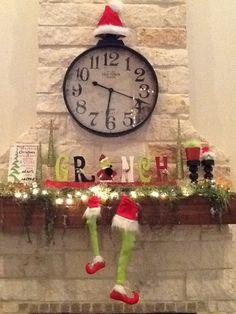 Whimsical Christmas Grinch Decor: Grinch Christmas Party, Grinch Party, Christmas Love, Christmas Crafts For Kids, Winter Christmas, Christmas Treats, Grinch Decorations, Christmas Decorations, Christmas Ornaments