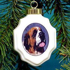 St. Bernard Christmas Ornament Porcelain $17.00