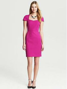 Sloan Sheath - Dresses Banana Republic Petite $140 This is THE color for Spring 2014 and it looks great on you!