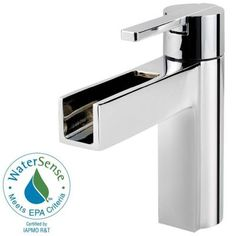 Pfister Vega 4 in. Centerset 1-Handle Waterfall Bathroom Faucet in Polished Chrome-LF-042-VGCC - The Home Depot