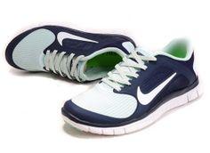 Nike Free 4.0 V3 Womens Jade Darkblue #Blue #Womens #Sneakers