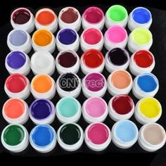 $8.30 New 36 Pots Cover Pure Different Colors UV Gel for UV Nail Art Tips Extension Manicure