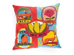 """South African Home Bru's - """"local is lekker"""" inspired scatter cushion."""