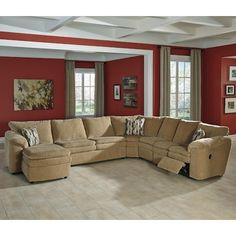 Klaussner Chapman Casual Reclining Sectional Sofa | Living room ...