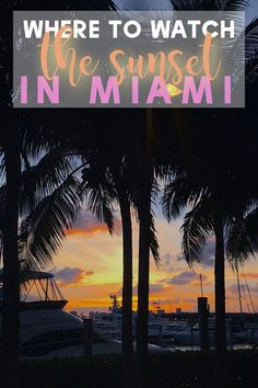 Who doesn't love a beautiful sunset? During my time in Miami, I couldn't help but chase the sunsets every night. I'll tell you my secret spots to watch the sunset in Miami, Florida. You'll be speechless and super excited to go capture some of your own. Make sure you save this pin to your travel board so you can find it later! Including: Miami Drone Shots, Sunset over Miami, Port of Miami Sunset, Drone photography Miami. #MiamiFlorida #LoveFL #MiamiSunset #BestofMiami #MIA