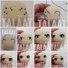 Tutorial Amigurumi, Crochet Amigurumi, Amigurumi Doll, Amigurumi Patterns, Crochet Dolls, Crochet Patterns, Octopus Crochet Pattern, Crochet Elephant, Crochet Eyes