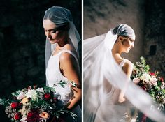 suzanne harward wedding dress bride flowers bouquet villa lucca