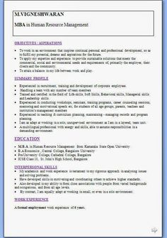 biodata format doc free download    Beautiful Excellent Professional Curriculum Vitae / Resume / CV Format with Career Objective Job Profile & Work Experience for MBA CV Freshers & 6Years Experienced in Word / Doc / Pdf Free Download  M.VIGNESHWARAN  MBA in Human Resource Management                  OBJECTIVES   To work in an environment that inspires continual personal and professional development so as to fulfill my potential dreams and aspirations for the future.   To apply my expertise a...
