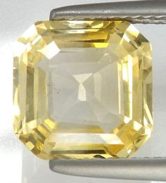Perfect for Sapphire Lovers*5.16 ct Yellow Sapphire Natural Nice Cut *Certified* #Unbranded