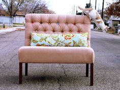 Make a Tufted Dining Bench | The DIY Adventures- upcycling, recycling and do it yourself from around the world.