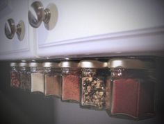 Magnetic Spice Rack Under Cabinet - Not only space saving, it will also prevent your spices from ending up in a jumbled hodge podge in a cabinet or drawer and make it way easier for you to reach for the flavor you need when cooking.